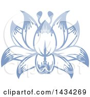 Clipart Of A Beautiful Blue Purple Water Lily Lotus Flower Royalty Free Vector Illustration by AtStockIllustration