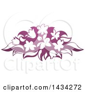 Clipart Of A Gradient Purple Flower Bouquet Royalty Free Vector Illustration by AtStockIllustration