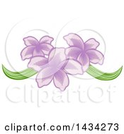 Clipart Of A Pretty Purple Orchid Flower Design Royalty Free Vector Illustration by AtStockIllustration