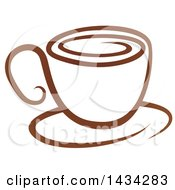 Brown Coffee Cup On A Saucer