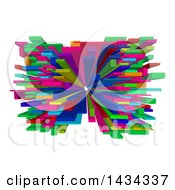 Clipart Of A Colorful Abstract 3d Blocks Design Royalty Free Vector Illustration