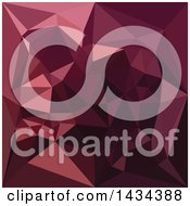 Clipart Of A Low Poly Abstract Geometric Background In Dark Raspberry Red Royalty Free Vector Illustration