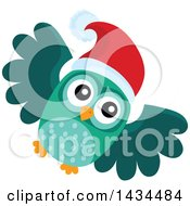 Clipart Of A Christmas Owl Royalty Free Vector Illustration by visekart