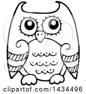 Black And White Lineart Sketched Owl