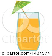 Clipart Of A Class Of Juice Or A Cocktail Royalty Free Vector Illustration by Vector Tradition SM
