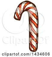 Sketched Christmas Candy Cane