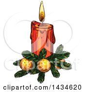 Sketched Christmas Candle