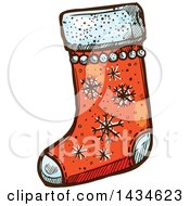Sketched Christmas Stocking