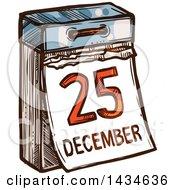 Sketched December 25 Christmas Calendar