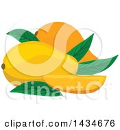 Clipart Of Tropical Exotic Mango Fruit Royalty Free Vector Illustration by Vector Tradition SM