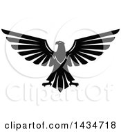 Clipart Of A Black And White Eagle Royalty Free Vector Illustration by Seamartini Graphics