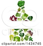 Clipart Of A Cutting Board Made Of Greens With Text Space Royalty Free Vector Illustration
