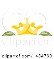 Clipart Of A Crown And Organic Leaves Royalty Free Vector Illustration by Vector Tradition SM