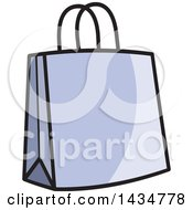 Clipart Of A Purple Gift Or Shopping Bag Royalty Free Vector Illustration