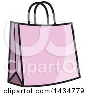Clipart Of A Purple Gift Or Shopping Bag Royalty Free Vector Illustration by Lal Perera