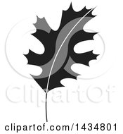 Clipart Of A Black And White Maple Leaf Royalty Free Vector Illustration by Lal Perera