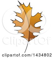 Clipart Of A Brown Maple Leaf Royalty Free Vector Illustration by Lal Perera
