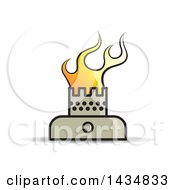 Clipart Of A Stove Burner With Flames Royalty Free Vector Illustration by Lal Perera