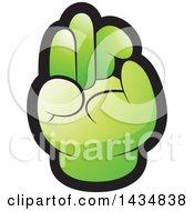Green Hand Gesturing Ok