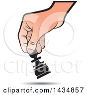 Clipart Of A Hand Moving A Pawn Chess Piece Royalty Free Vector Illustration by Lal Perera