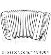 Black And White Musical Accordion