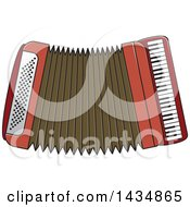 Clipart Of A Musical Accordion Royalty Free Vector Illustration by Lal Perera