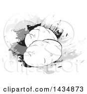 Clipart Of Potatoes Over Splatters Royalty Free Vector Illustration