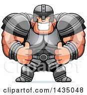 Clipart Of A Cartoon Buff Muscular Warrior Giving Two Thumbs Up Royalty Free Vector Illustration by Cory Thoman
