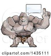 Cartoon Buff Muscular Ogre Talking