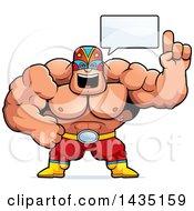 Cartoon Buff Muscular Luchador Mexican Wrestler Talking