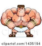 Cartoon Smug Buff Muscular Hercules