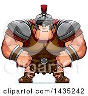 Poster, Art Print Of Cartoon Smug Buff Muscular Centurion Soldier