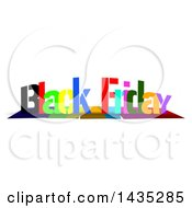 Colorful Words BLACK FRIDAY With Shadows On White