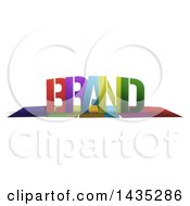 Colorful Word BRAND With Shadows On White