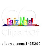 Colorful Words FELIZ NATAL With Shadows On White