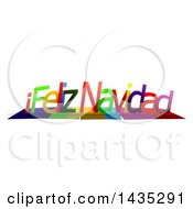 Colorful Words FELIZ NAVIDAD With Shadows On White
