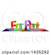 Clipart Of Colorful Words FOR RENT With Shadows On White Royalty Free Illustration