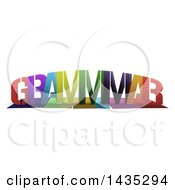 Colorful Word GRAMMAR With Shadows On White