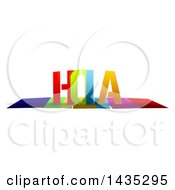 Colorful Word HOLA With Shadows On White