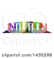 Colorful Word INTUITION With Shadows On White