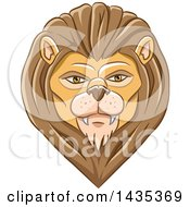 Clipart Of A Male Lion Head Royalty Free Vector Illustration by cidepix