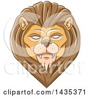 Clipart Of A Demonic Eyed Lion Head Royalty Free Vector Illustration by cidepix