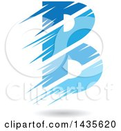 Clipart Of A Floating Abstract Capital Letter B With Stripes And A Shadow Royalty Free Vector Illustration by cidepix