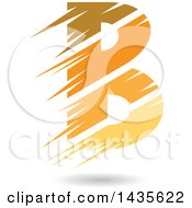 Clipart Of A Floating Abstract Capital Letter B With Stripes And A Shadow Royalty Free Vector Illustration