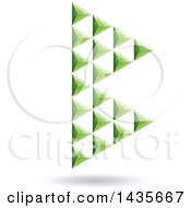 Floating Abstract Capital Letter B Made Of Pyramids With A Shadow