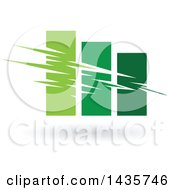 Clipart Of A Green Bar Graph Royalty Free Vector Illustration by cidepix