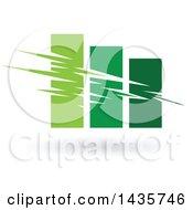 Poster, Art Print Of Green Bar Graph
