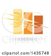 Poster, Art Print Of Yellow And Orange Bar Graph
