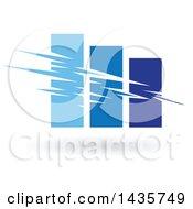 Poster, Art Print Of Blue Bar Graph