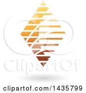 Floating Abstract Diamond Design With Stripes And A Shadow